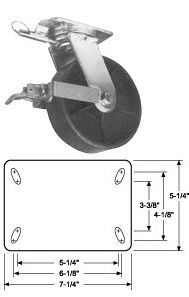 heavy duty drop forged casters