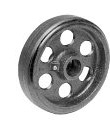 low profile moldon rubber wheel
