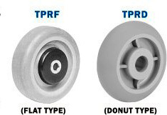thermoplasdtic rubber wheels
